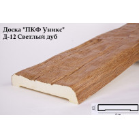 Доски из полиуретана Д-12 (Светлый дуб) (12*2,5*200) Уникс Lepnina-Sale.ru