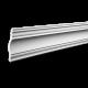 Карнизы с гладким профилем из полиуретана