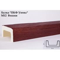 Балки из полиуретана М12 (вишня) (12*6*300) модерн Уникс Lepnina-Sale.ru