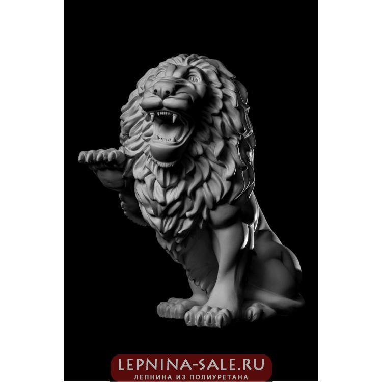 Статуя Лев (прав.) LV-001 Декор из стекловолокна Decorus Lepnina-Sale.ru