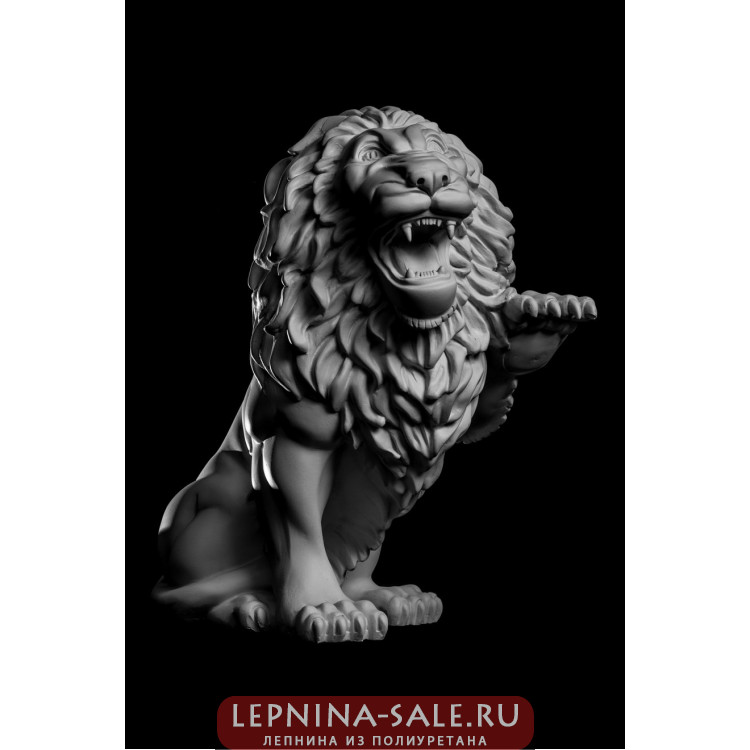 Статуя Лев (лев.) LV-002 Декор из стекловолокна Decorus Lepnina-Sale.ru