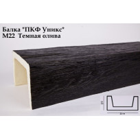 Балки из полиуретана М22 (тёмная олива) (22*15*300) модерн Уникс Lepnina-Sale.ru