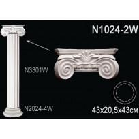 Декоративная колонна N1024-2W Lepnina-Sale.ru