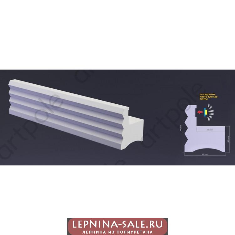 3D Панель Профиль гипсовый LED FRAME-2 005599 Artpole Lepnina-Sale.ru