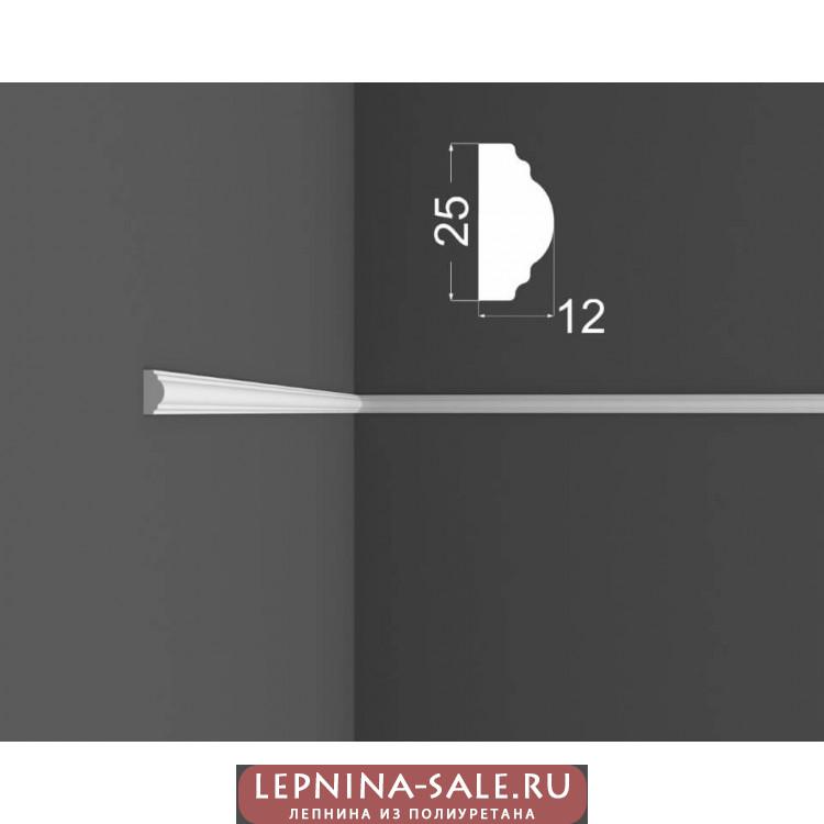 Молдинг M 1.25.12 DEARTIO (ДеАртио) МДФ Белый Lepnina-Sale.ru