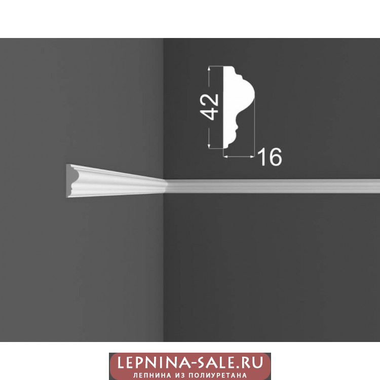 Молдинг M 2.42.16 DEARTIO (ДеАртио) МДФ Белый Lepnina-Sale.ru