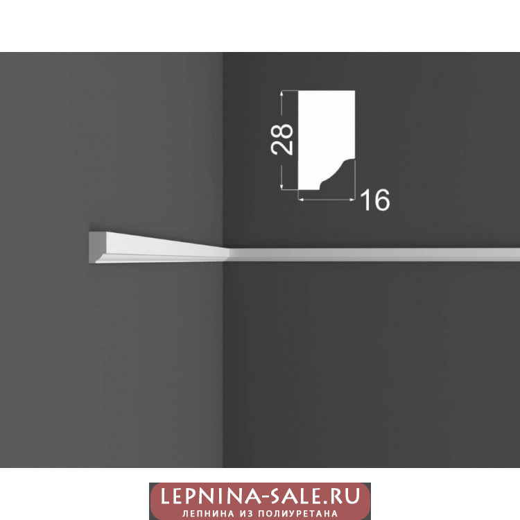 Молдинг M 8.28.16 DEARTIO (ДеАртио) МДФ Белый Lepnina-Sale.ru