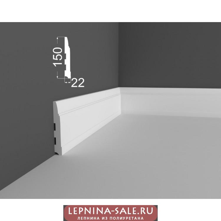 Плинтус P 13.150.22 DEARTIO (ДеАртио) МДФ Белый Lepnina-Sale.ru