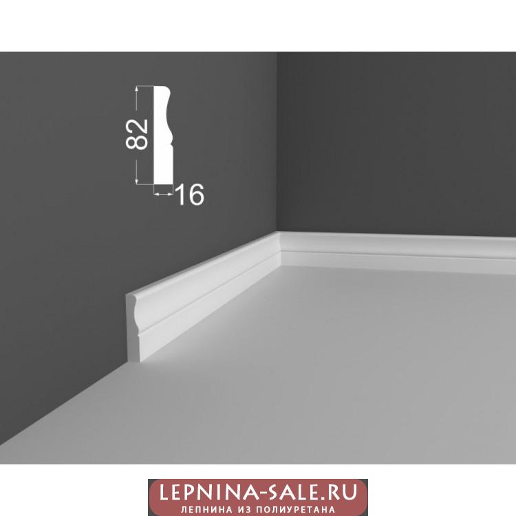 Плинтус P 14.82.16 DEARTIO (ДеАртио) МДФ Белый Lepnina-Sale.ru