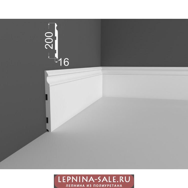 Плинтус P 16.200.16 DEARTIO (ДеАртио) МДФ Белый Lepnina-Sale.ru