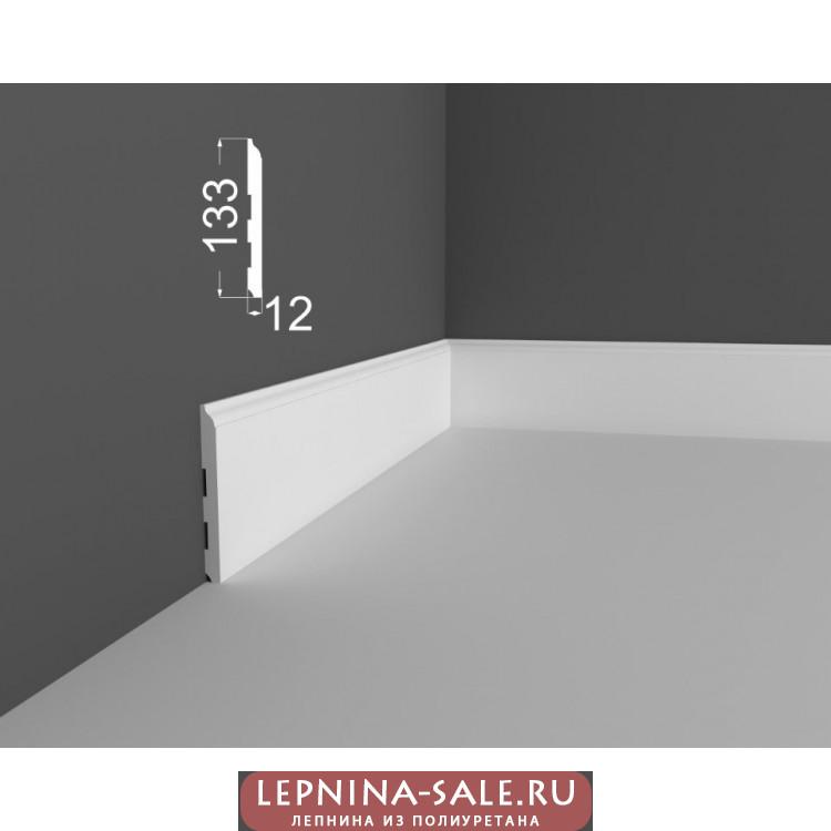 Плинтус P 18.133.12 DEARTIO (ДеАртио) МДФ Белый Lepnina-Sale.ru