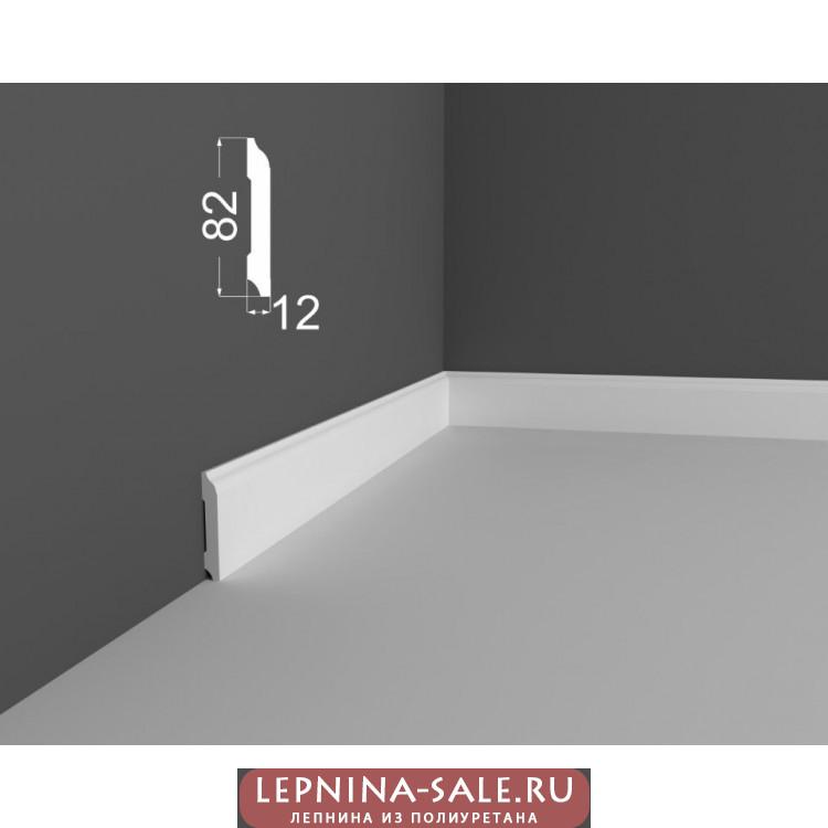 Плинтус P 18.82.12 DEARTIO (ДеАртио) МДФ Белый Lepnina-Sale.ru