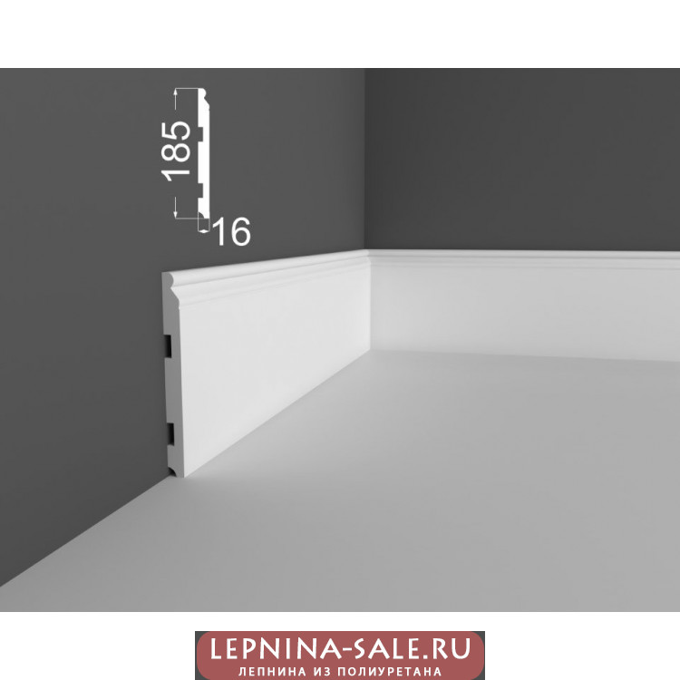 Плинтус P 19.185.16 DEARTIO (ДеАртио) МДФ Белый Lepnina-Sale.ru