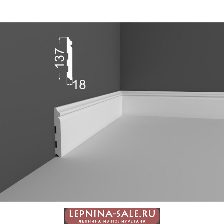 Плинтус P 8.137.18 DEARTIO (ДеАртио) МДФ Белый Lepnina-Sale.ru
