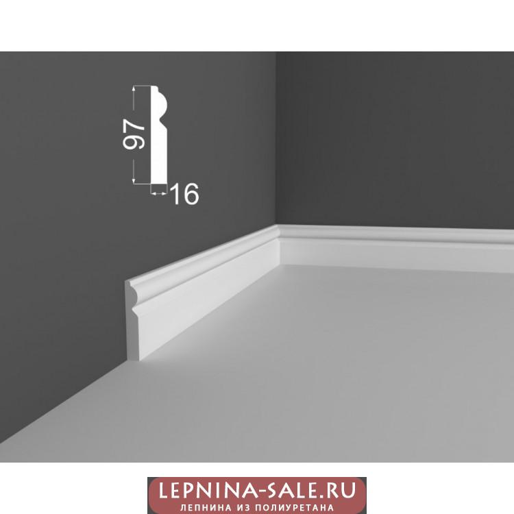 Плинтус P 9.97.16 DEARTIO (ДеАртио) МДФ Белый Lepnina-Sale.ru