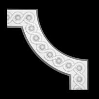 Угловой элемент из полиуретана 1.52.376 Европласт Lepnina-Sale.ru