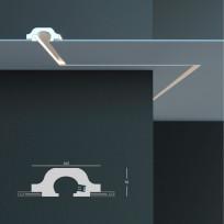 Tesori KD 120 - встраиваемый потолочный молдинг для подсветки Lepnina-Sale.ru