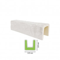 EQ 602 (3 м, белая) Балка декоративная Lepnina-Sale.ru