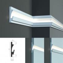 Tesori KD 401 - встраиваемый молдинг для скрытой LED подсветки Lepnina-Sale.ru