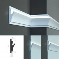 Tesori KD 402 - встраиваемый молдинг для скрытой LED подсветки Lepnina-Sale.ru