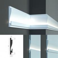 Tesori KD 404 - встраиваемый молдинг для скрытой LED подсветки Lepnina-Sale.ru