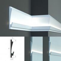 Tesori KD 406 - встраиваемый молдинг для скрытой LED подсветки Lepnina-Sale.ru