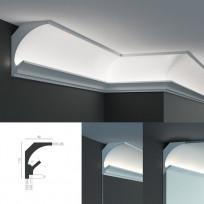 Tesori KD 201 - угловой потолочный карниз для подсветки Lepnina-Sale.ru