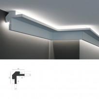 Tesori KD 503 - угловой потолочный карниз для подсветки Lepnina-Sale.ru