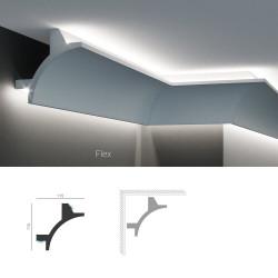 Полиуретановый угловой карниз под подсветку Tesori KF 706