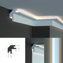 Tesori KD 203 - встраиваемый угловой потолочный карниз для подсветки Lepnina-Sale.ru