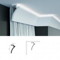 Полиуретановый шторный карниз под подсветку Tesori KF 801 Lepnina-Sale.ru