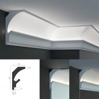 Tesori KD 205 - угловой потолочный карниз для подсветки Lepnina-Sale.ru