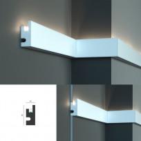 Tesori KD 301 - настенный молдинг для LED подсветки Lepnina-Sale.ru