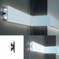 Tesori KD 302 - настенный встраиваемый молдинг для LED подсветки Lepnina-Sale.ru