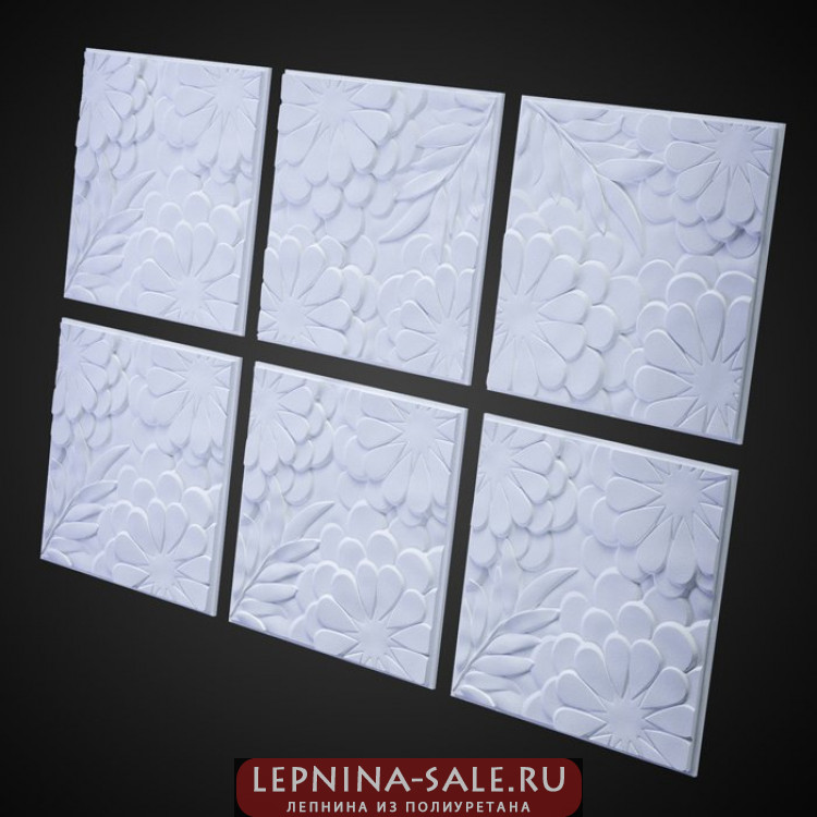3D Панель Панно Flora P6 M-0042 Artpole Lepnina-Sale.ru