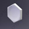 3D Панель Elementary HEKSA-button E-0004-platinum Artpole