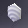 3D Панель Elementary HEKSA-drip E-0009-platinum Artpole