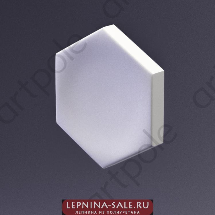 3D Панель Elementary HEKSA-big button E-0005-platinum Artpole Lepnina-Sale.ru
