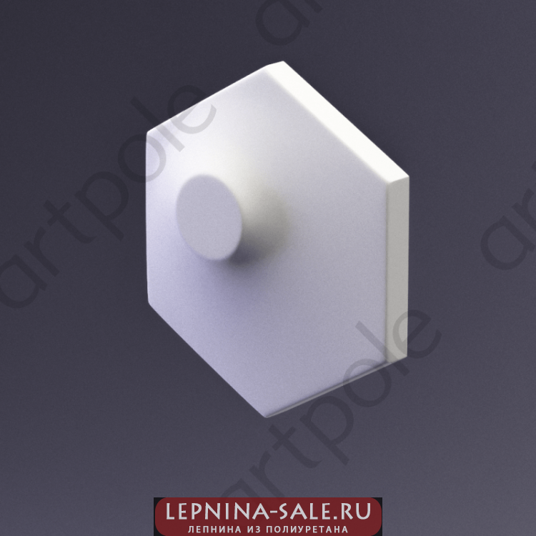 3D Панель Elementary HEKSA-dots E-0006-platinum Artpole Lepnina-Sale.ru