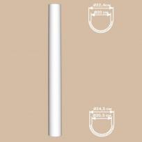 Полуколонна гладкая DECOMASTER 90124-H (O 240,вн. O 180, 2400мм) Lepnina-Sale.ru