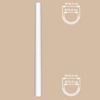 Полуколонна гладкая DECOMASTER 90118-H (O 180*2400, вн.O 152мм) Lepnina-Sale.ru