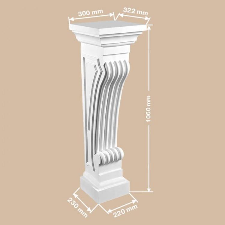 Пьедестал камина 68687 Decomaster Lepnina-Sale.ru